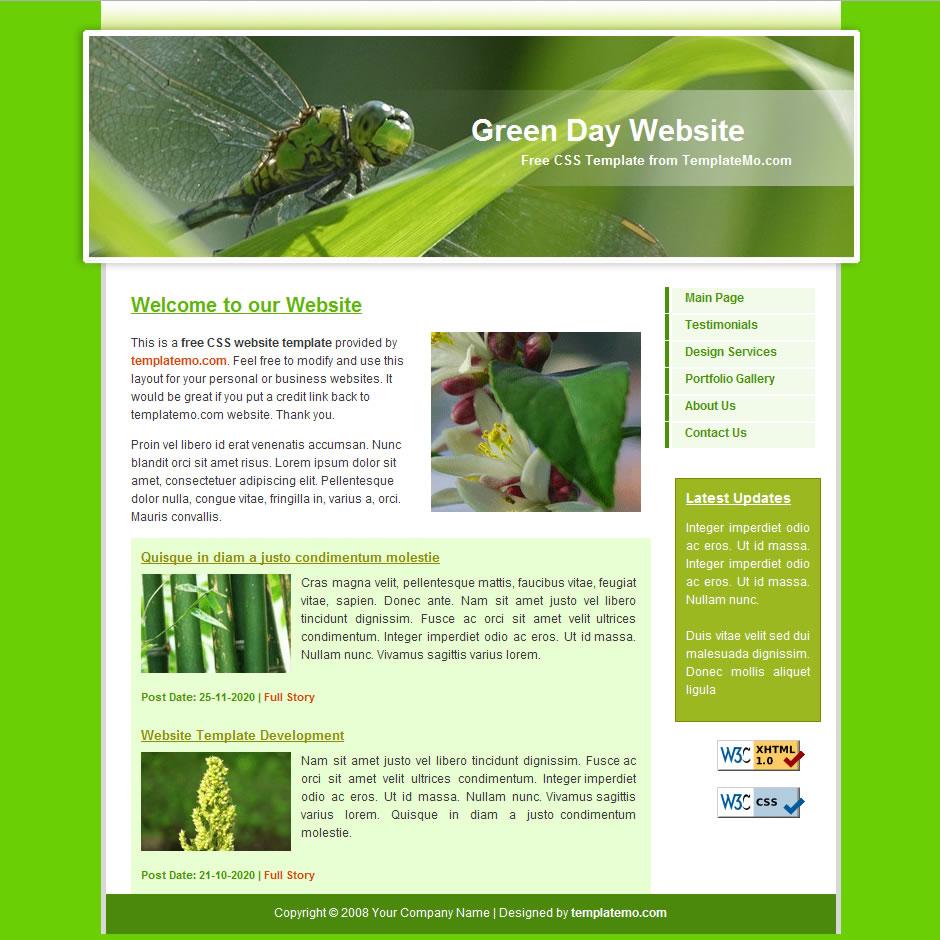 green website templates
