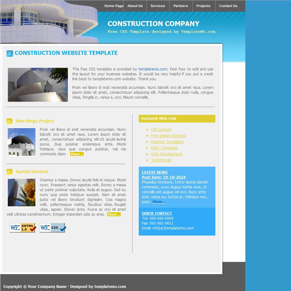blue website templates