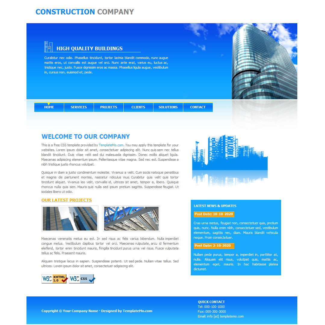 white website templates