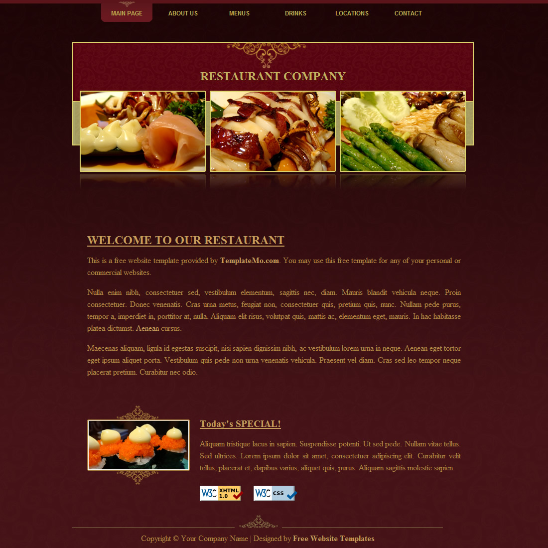 OnePage Website Templates