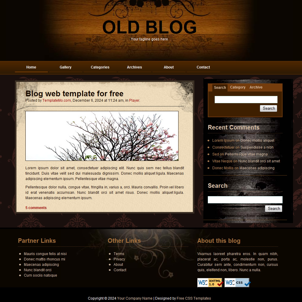 blog website templates
