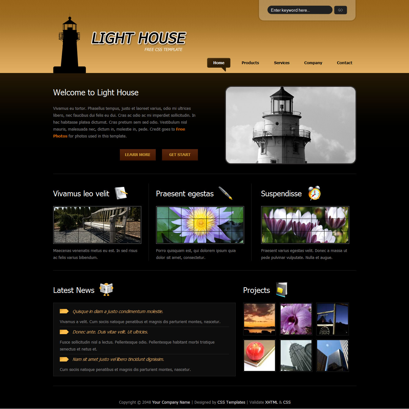 brown website templates