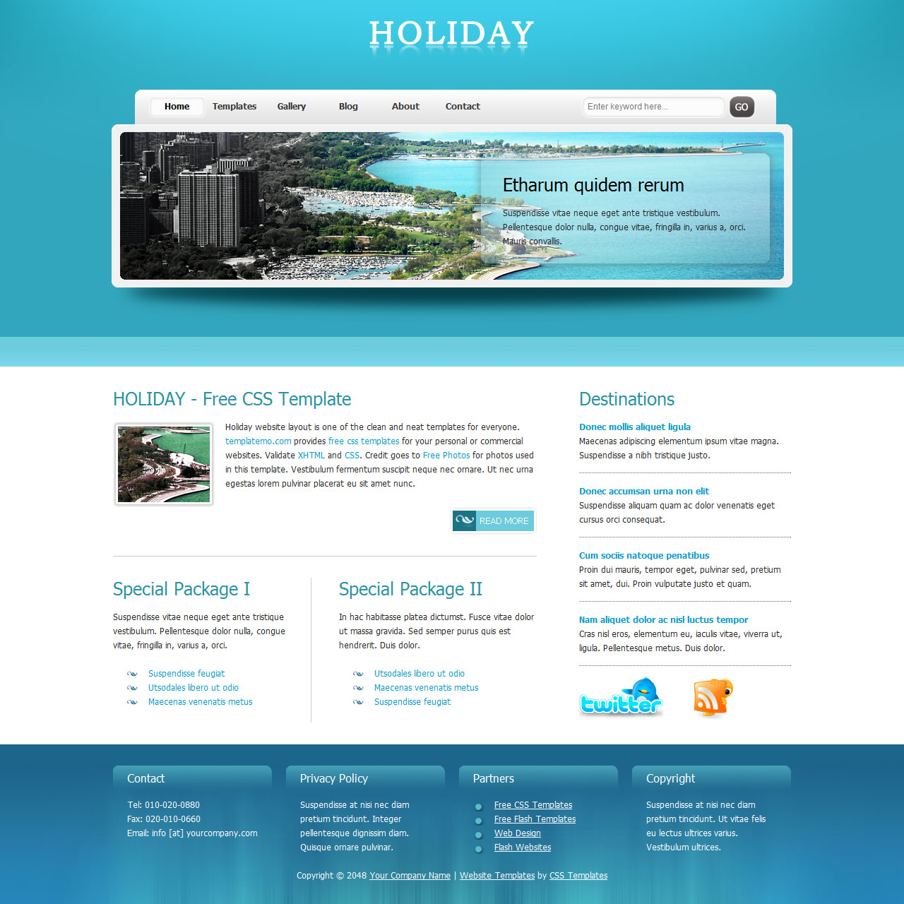 3-column website templates