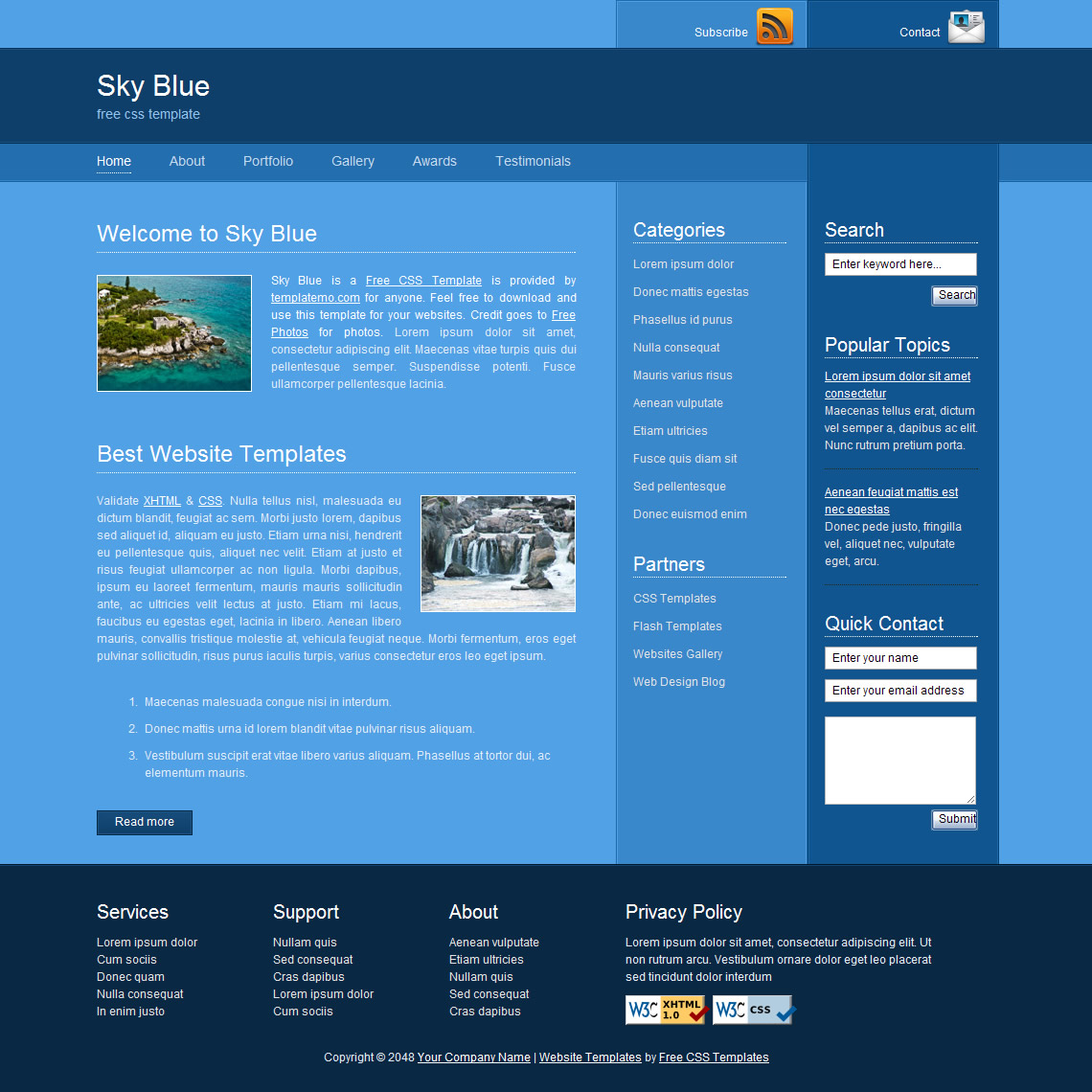 Web Design Templates Free Download Php