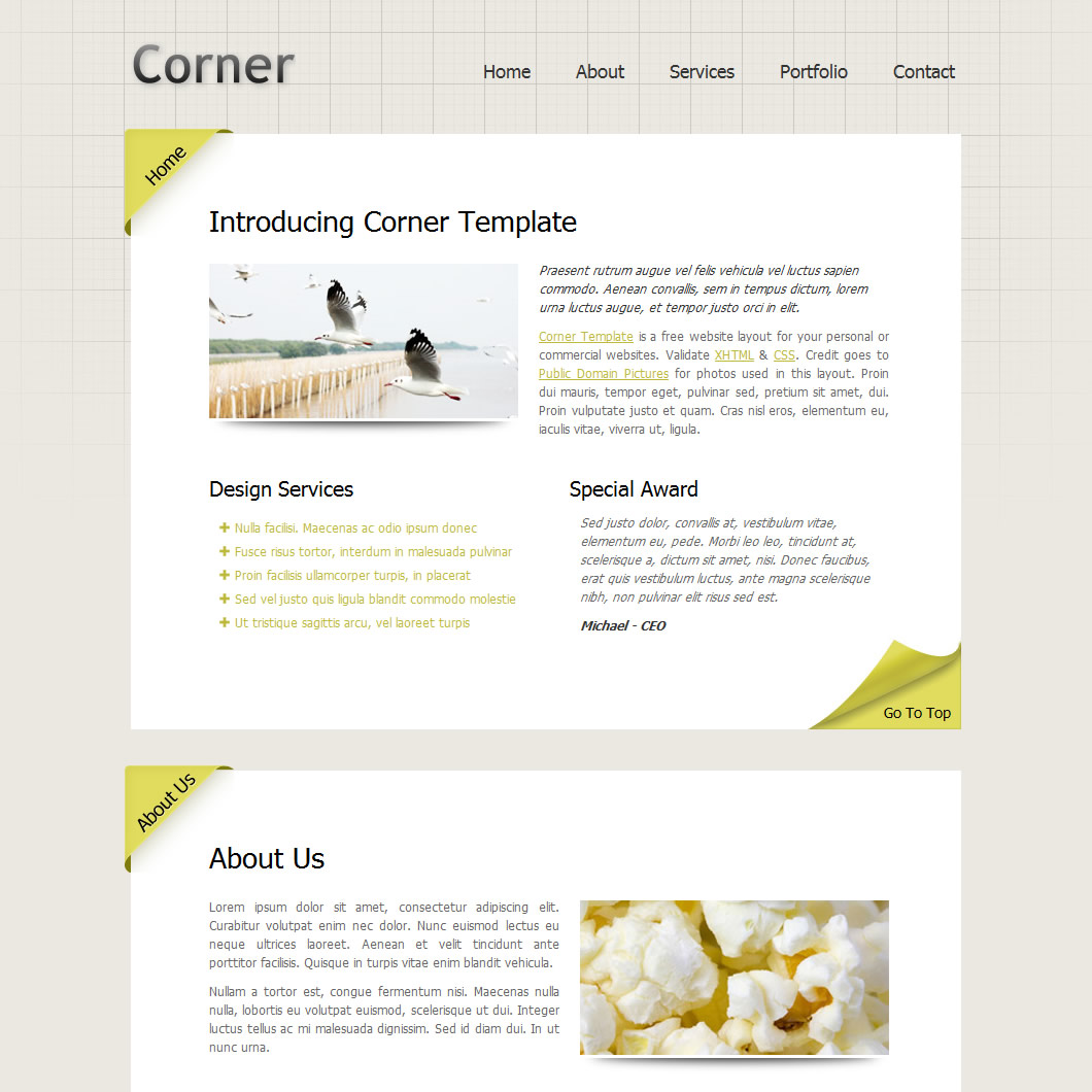 one-page website templates