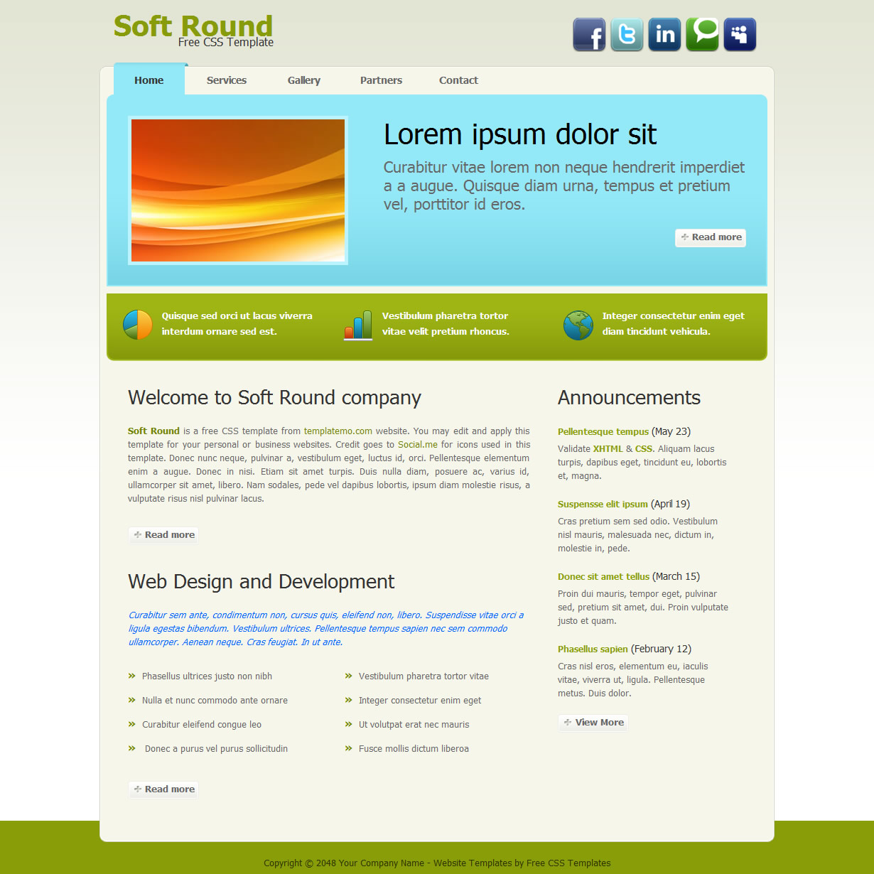 Green Website Templates By Templatemo