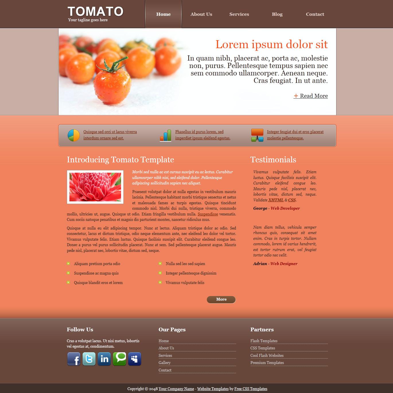 Red website templates maxwellsz