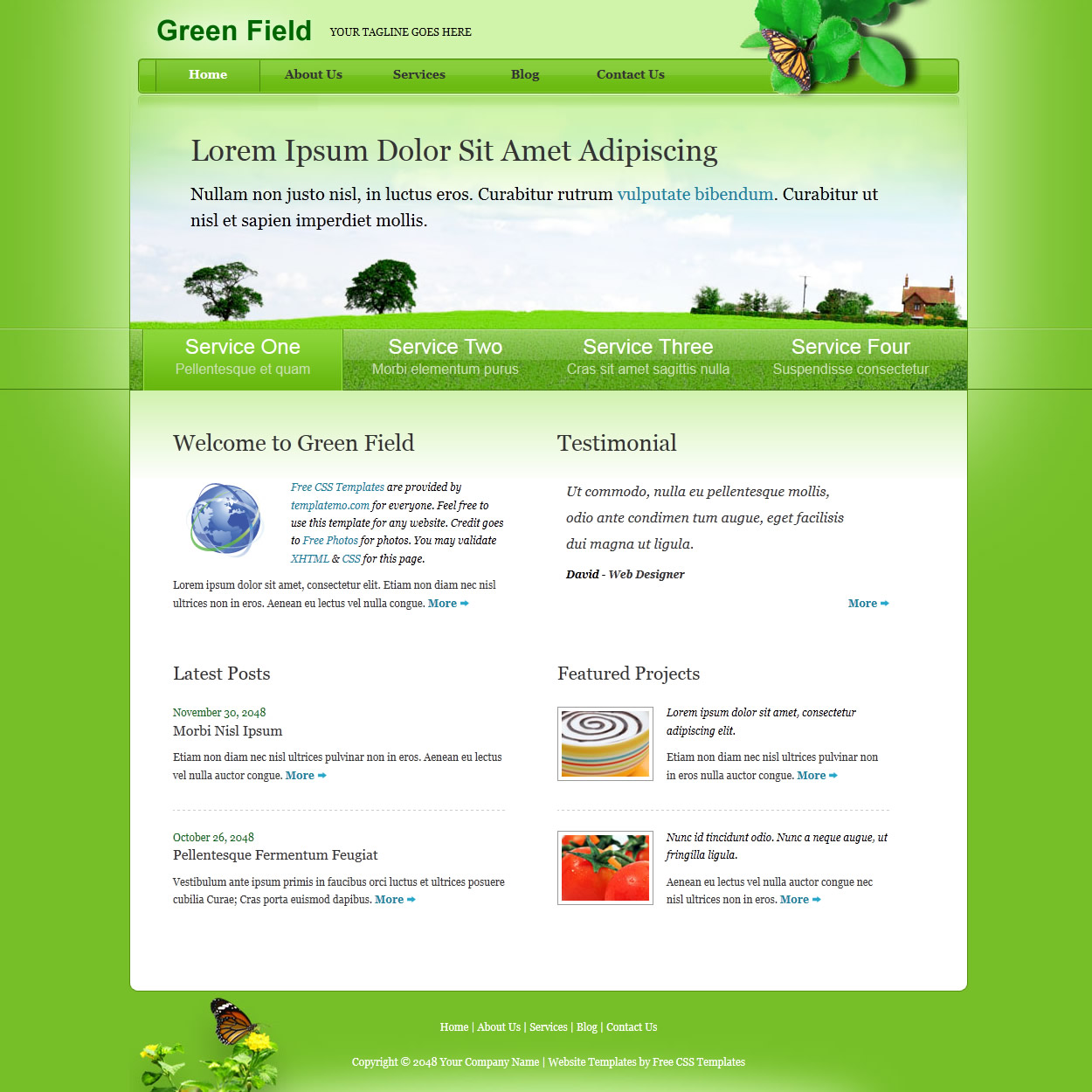 green website templates
