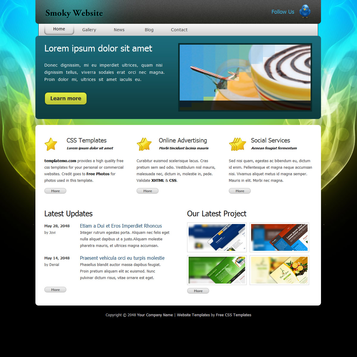 3-column Website Templates by templatemo