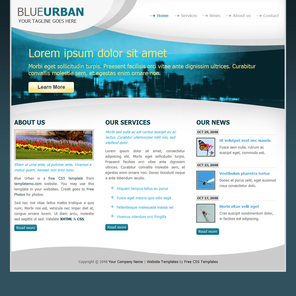 column website templates