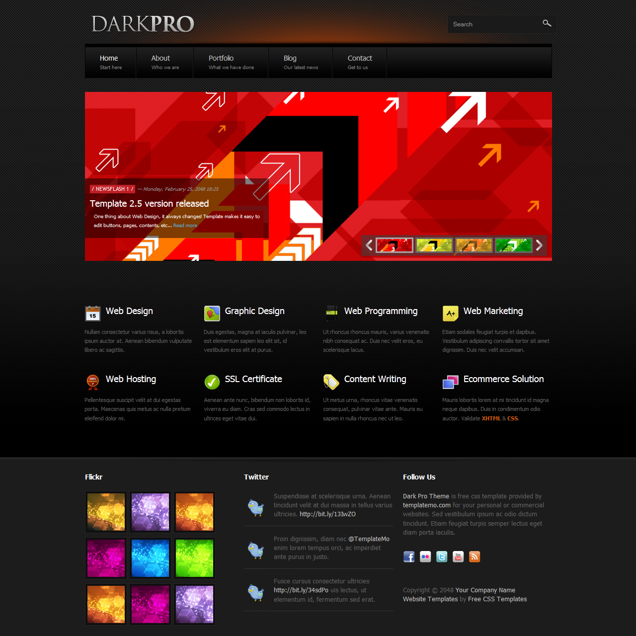 Black Website Templates By Templatemo