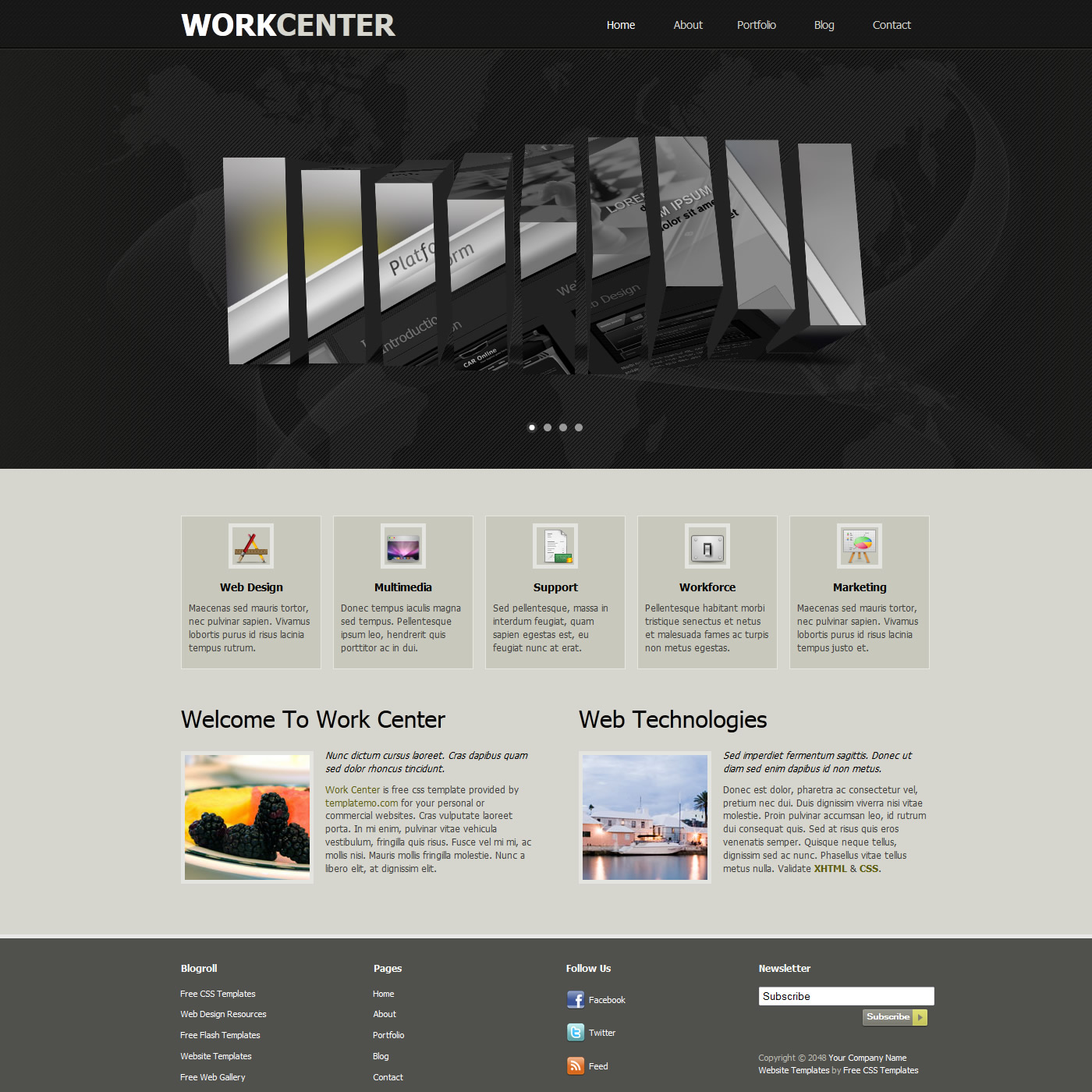 darkgray website templates