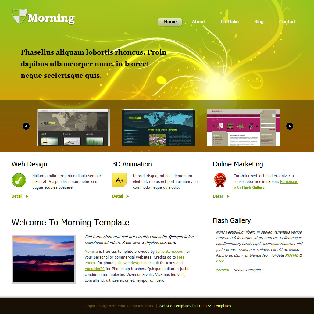 Website templates green website templates pronofoot35fo Gallery