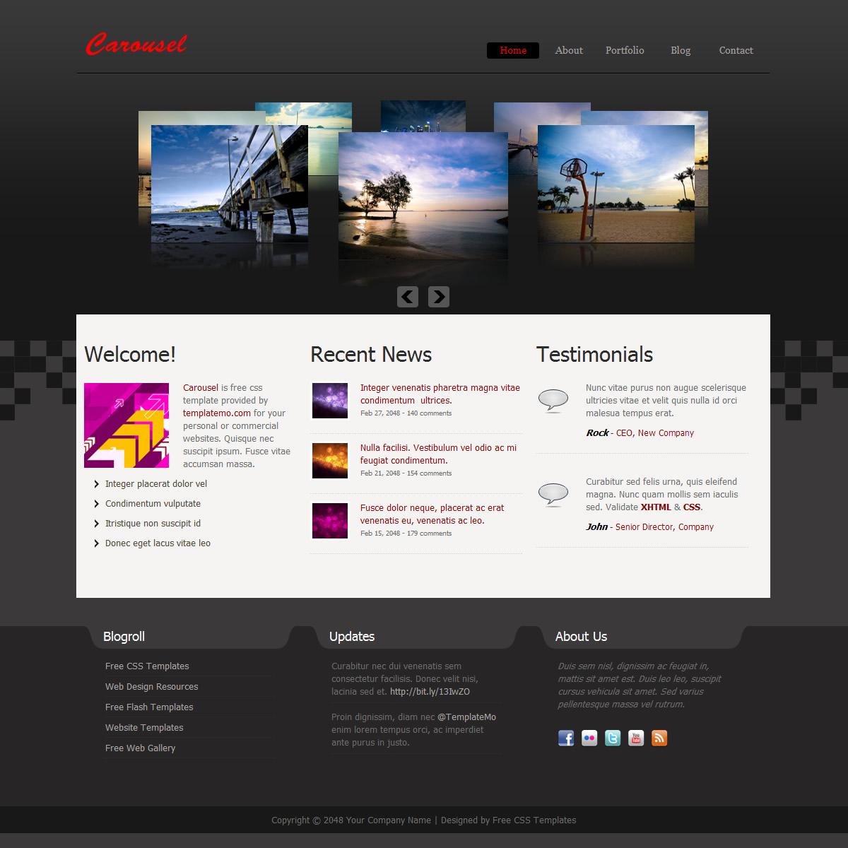 3-column website templates
