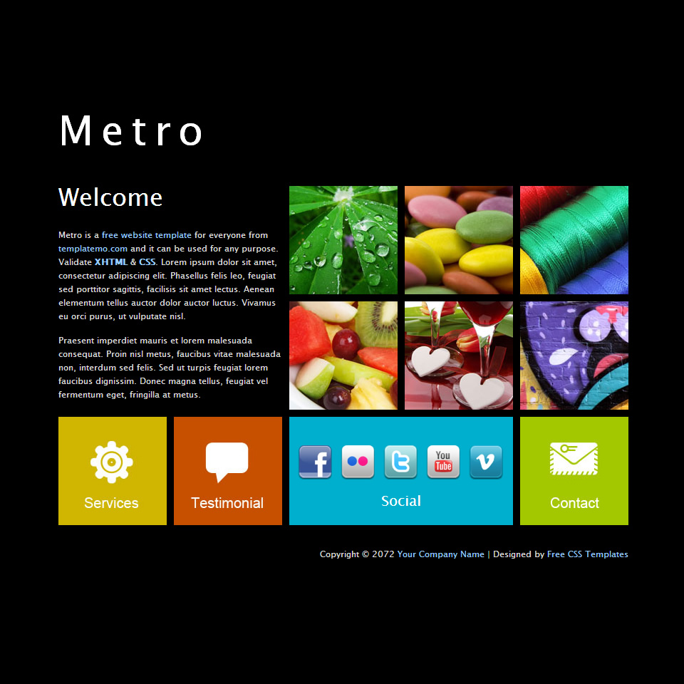 jquery website templates