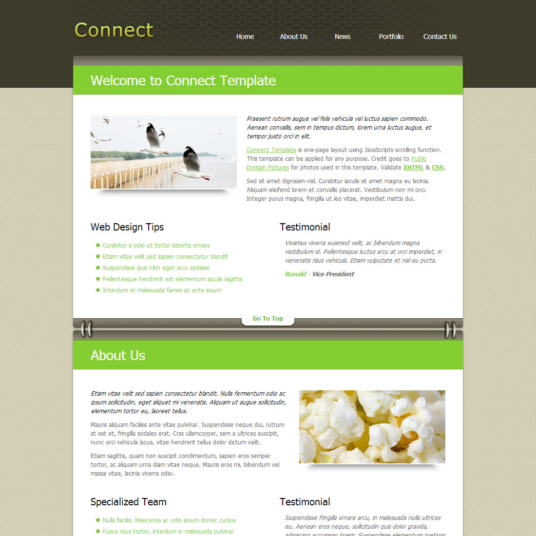 parallax website templates