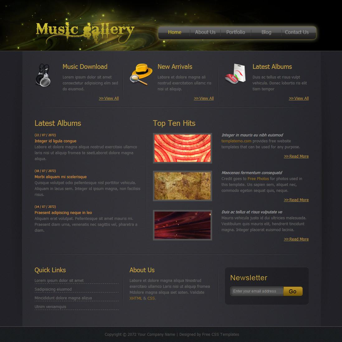 gallery website templates