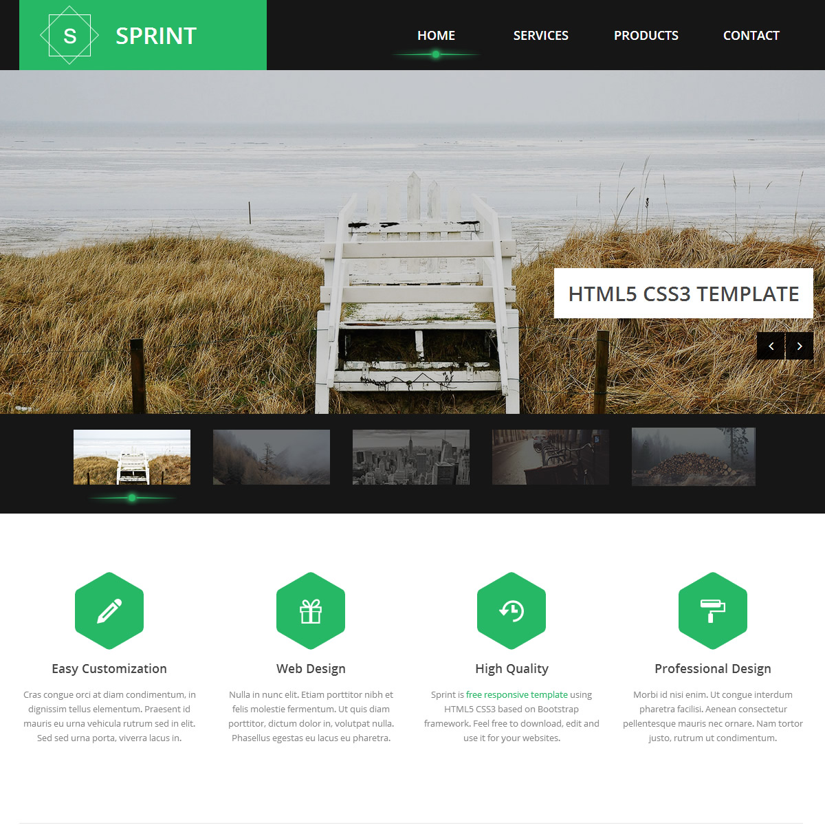 Green Website Templates - Simple website templates free download html with css