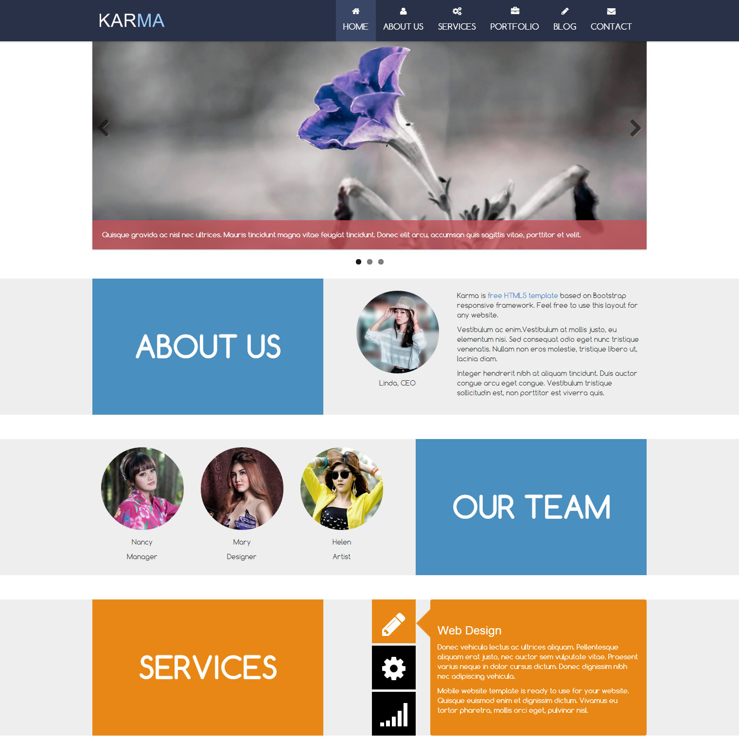 Mobile Website Templates - Free web site template