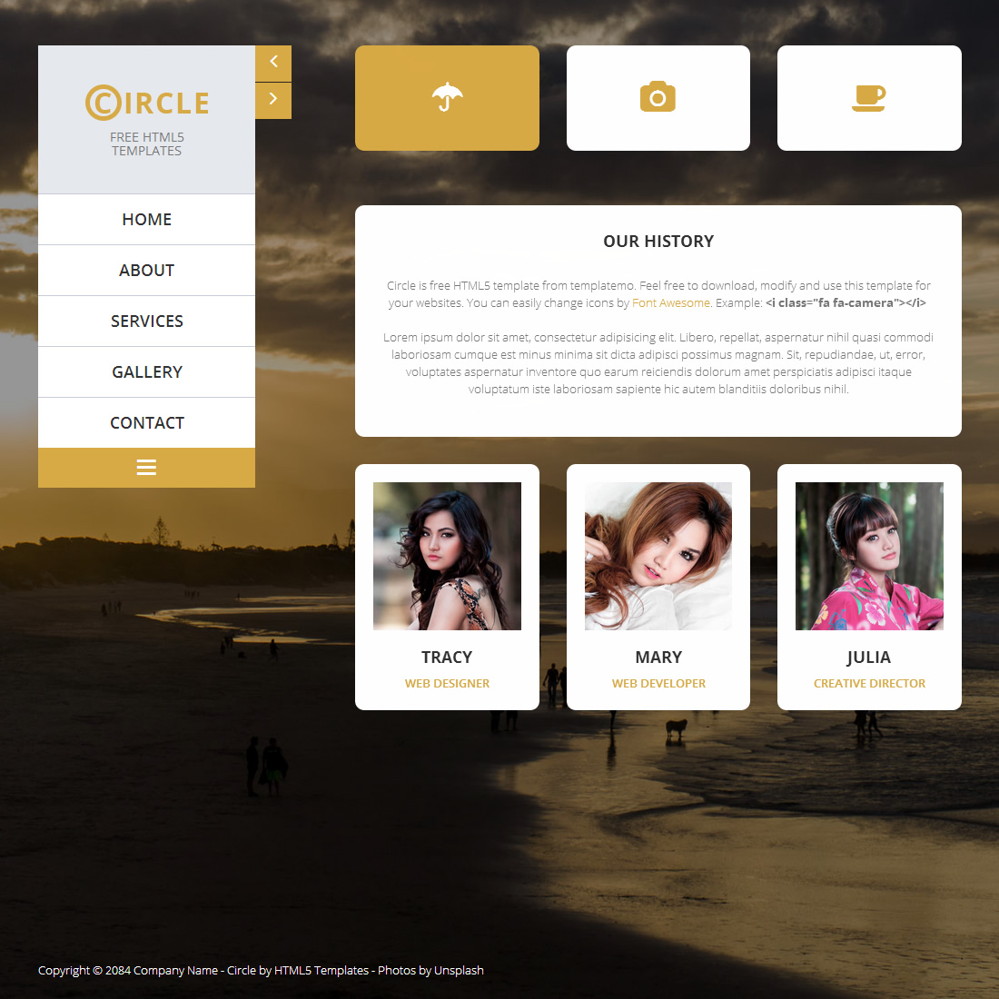 gallery website templates