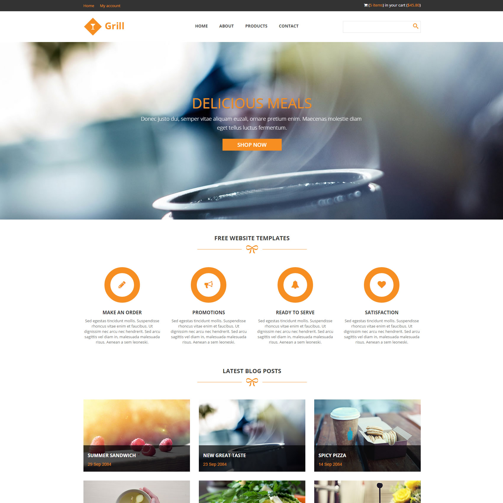 orange website templates by templatemo - Free Responsive Website Templates