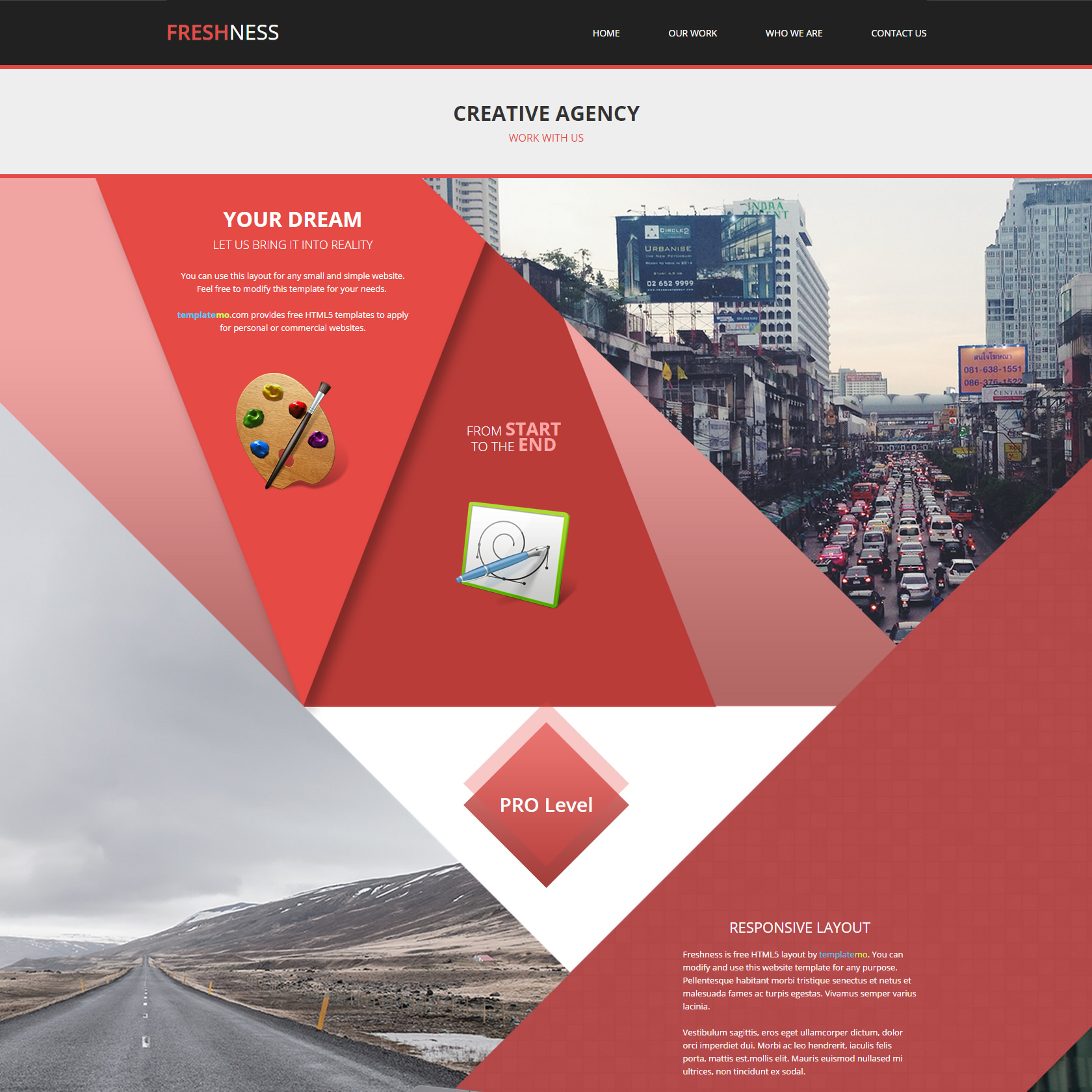 red website templates