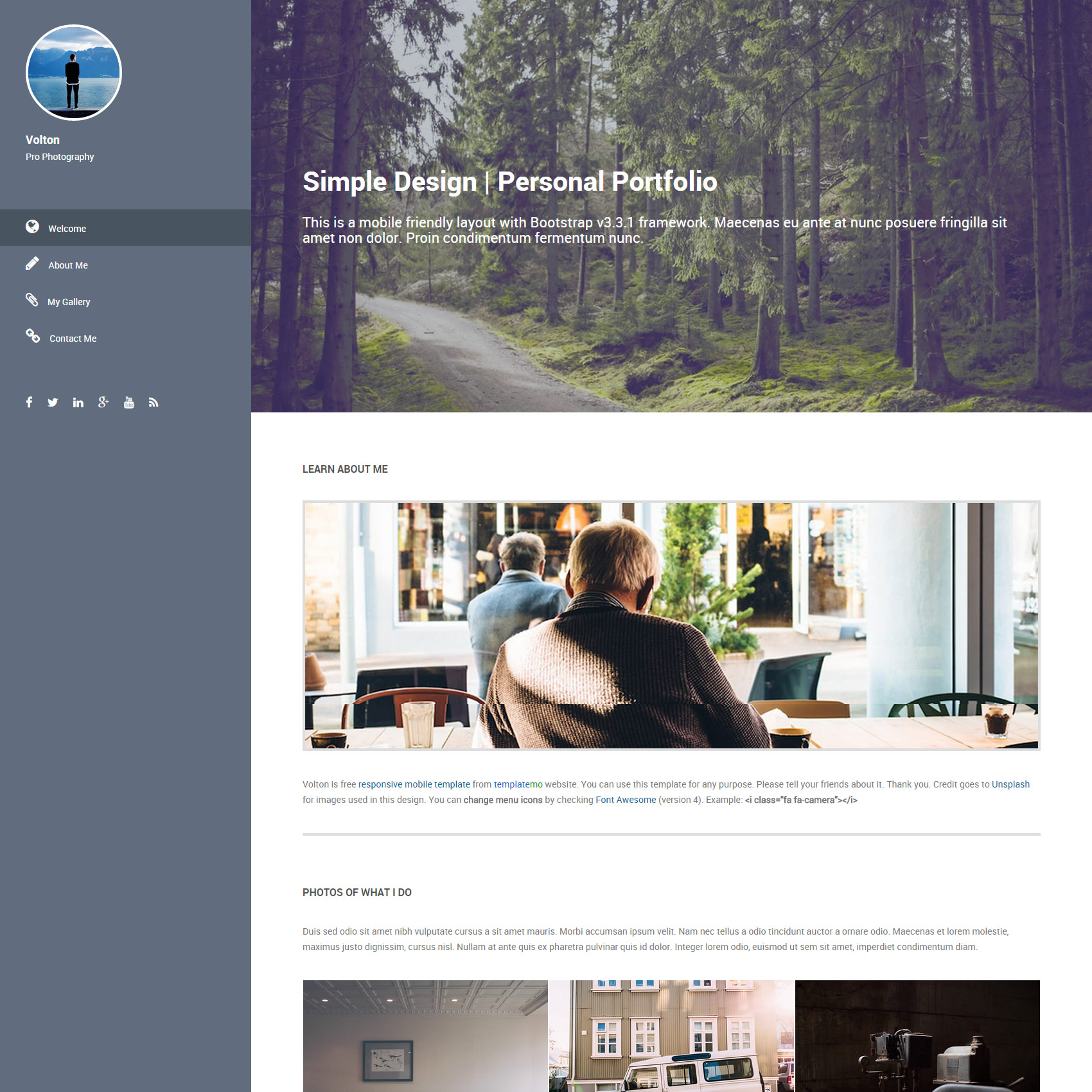 Portfolio Website Templates - Free responsive personal website templates