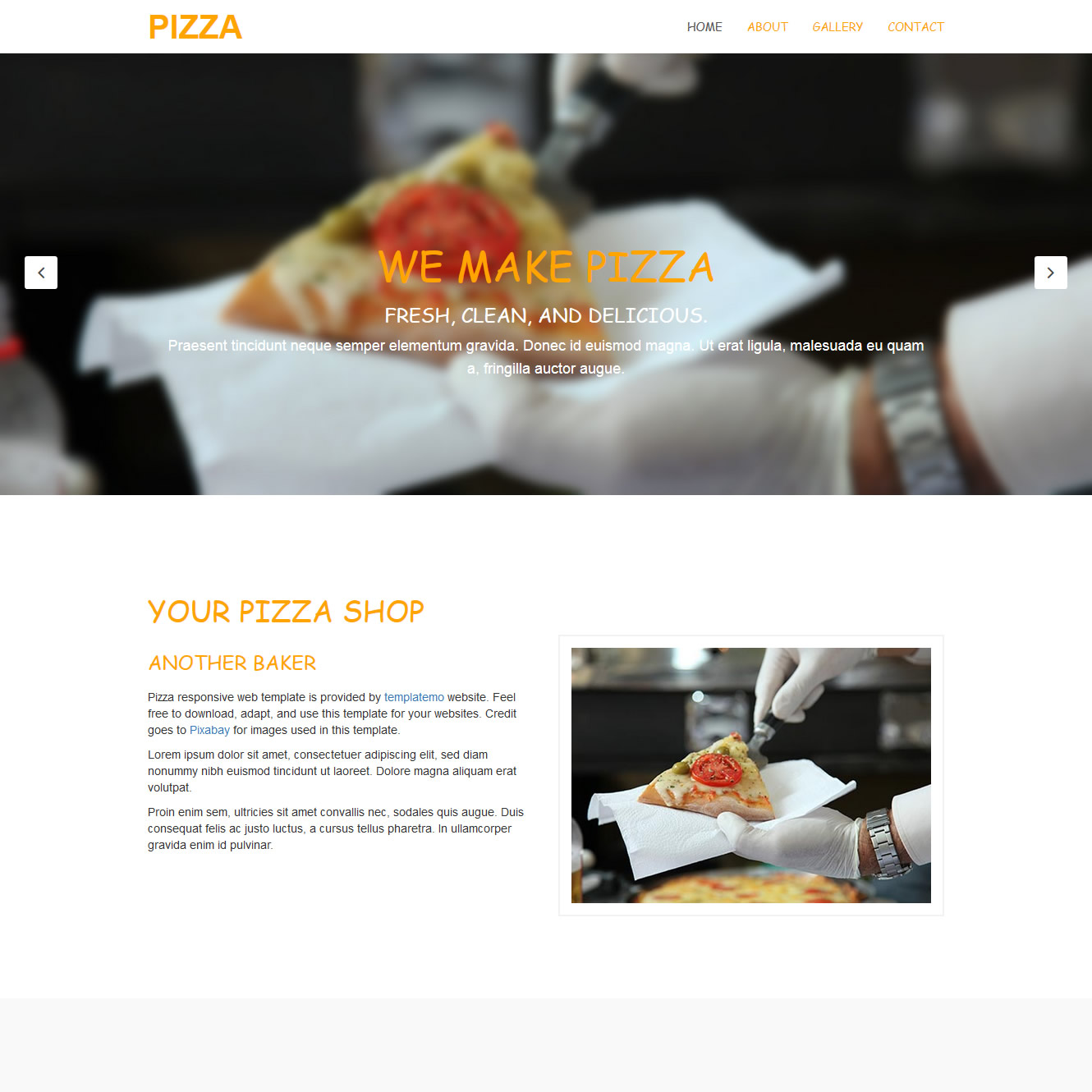 Pizza website templates pronofoot35fo Images