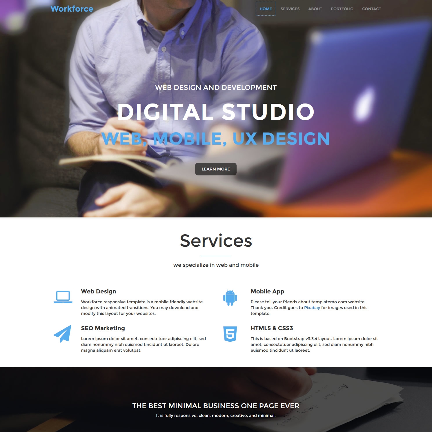 Mobile Website Templates by templatemo