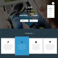 474 app landing responsive template