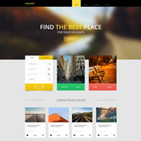 475 holiday responsive template